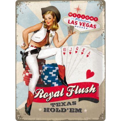 Placa metalica 30X40 Royal Flush