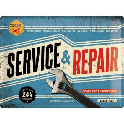 Placa metalica 30X40 Service and Repair'