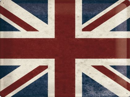Placa metalica 30X40 Union Jack