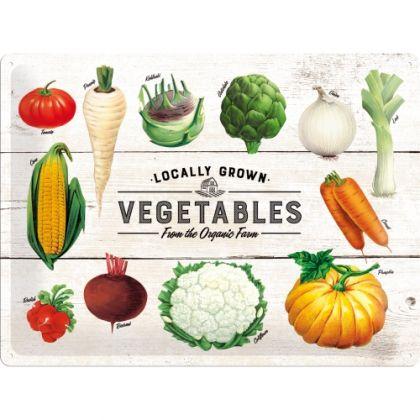 Placa metalica 30X40 Vegetables-From the Organic Farm