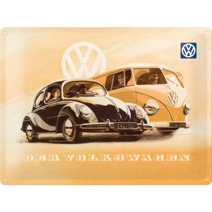 Placa metalica 30X40 VW - Kafer & Bus