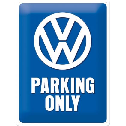 Placa metalica 30X40 VW - Parking Only
