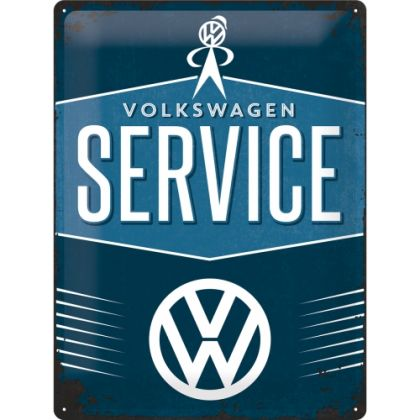 Placa metalica 30X40 VW - Service