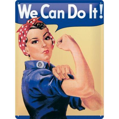 Placa metalica 30X40 We can do it!