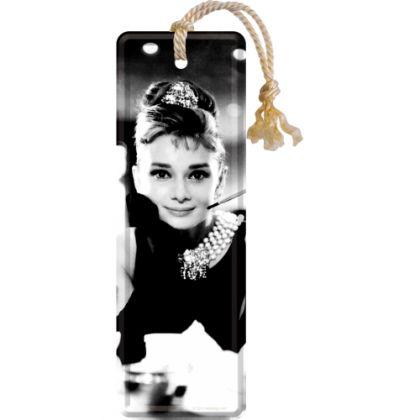 Semn de carte metalic Audrey Hepburn - Holly Golightly