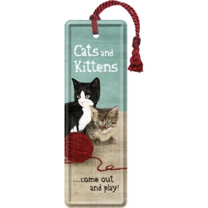 Semn de carte metalic Cats and Kittens