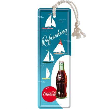 Semn de carte metalic Coca-Cola Sailing Boats