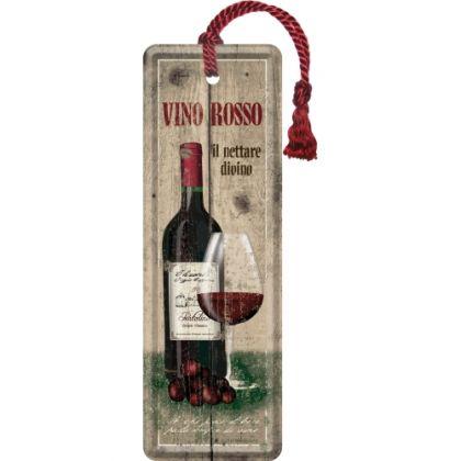 Semn de carte metalic Vino Rosso