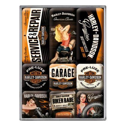 Set Magneti Harley-Davidson Garage Babes