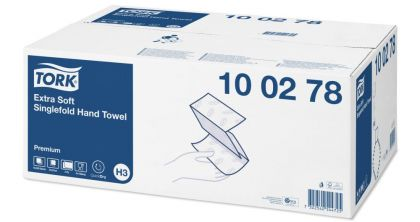 TORK EXTRA SOFT SINGLEFOLD HAND TOWEL PREMIUM H3