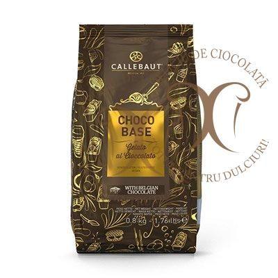 Choco Base, Mix Baza Gelato pentru Inghetata de Ciocolata Neagra, punga 0,8 kg, Callebaut