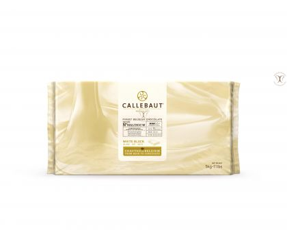 Ciocolata alba fara zahar, cacao 30,7%, 5 Kg, Barry Callebaut