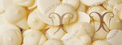 Ciocolata alba NACAR, dropsuri, 30,3% cacao, 5 Kg