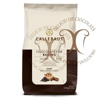 Ciocolata Neagra Termostabila Bucati mari, CHUNKS Barry Callebaut, cu cacao 45,4% la 2,5 Kg