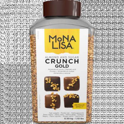Migdale Aurii Crocante  (Almond and Sugar Crunch Gold) 500g Mona Lisa Callebaut
