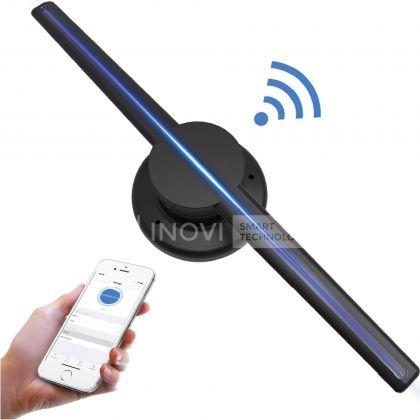 Holograma 3D LED, 43 cm, cu Wireless si SD CARD, 2 Lame, 320 LEDuri