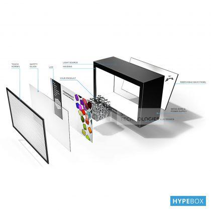 HYPEBOX 84 inch Orizontal, Alb, 4K, 10 puncte touch