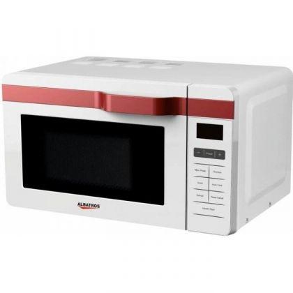 Cuptor cu microunde Albatros MWA 20D3W, Digital, 20 litri, putere microunde 700 W, 8 programe, Alb