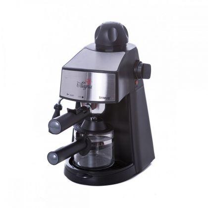 Espressor  Samus ALEGRIA,  800 W, 3.5 bari, lingurita pentru masurare si tasare, culoare negru cu insertie inox