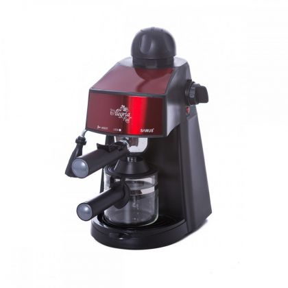 Espressor  Samus ALEGRIA-RED,  800 W, 3.5 bari, lingurita pentru masurare si tasare, culoare negru cu insertie rosie