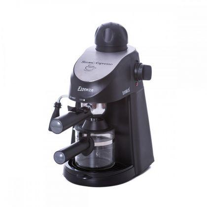 Espressor  Samus ESSENZA,  800 W, 3.5 bari, cana gradata, filtru inox, culoare negru cu insertie inox