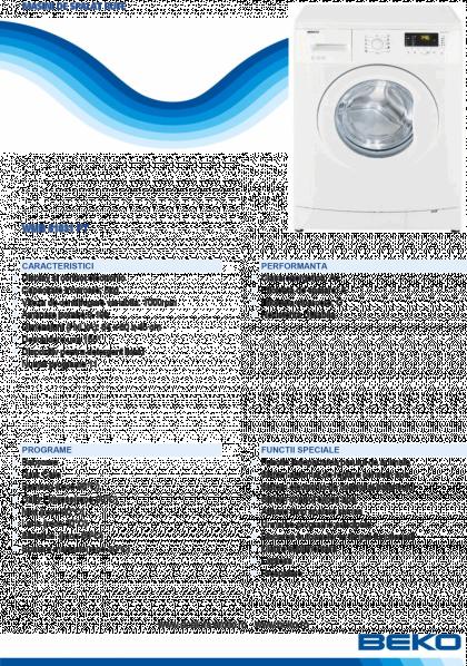 Masina de spalat automata Beko WMB51031PT, 5 kg, A+, 1000 rpm, 11 programe, PET