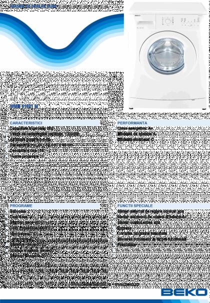 Masina de spalat automata Beko WMB61021M, 6kg, A+, 1000 rpm, 11 programe, Bebeko