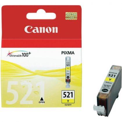 Cartus cerneala Canon CLI-521Y, yellow, 9ml / 505 pagini