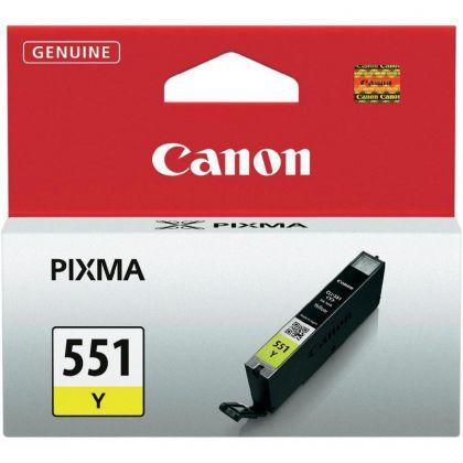 Cartus cerneala Canon CLI-551Y, yellow, capacitate 7ml