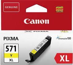 Cartus cerneala Canon CLI-571XL, yellow, capacitate 11ml