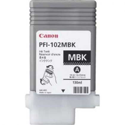 Cartus cerneala Canon PFI-102MB, matte black, capacitate 130ml