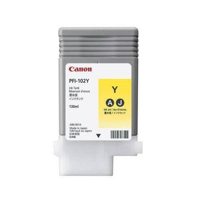 Cartus cerneala Canon PFI-102Y, yellow, capacitate 130ml