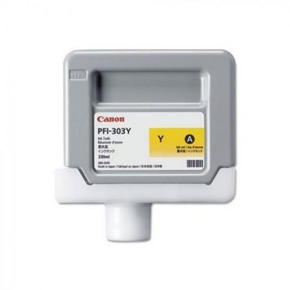 Cartus cerneala Canon PFI-303Y, yellow, capacitate 330ml