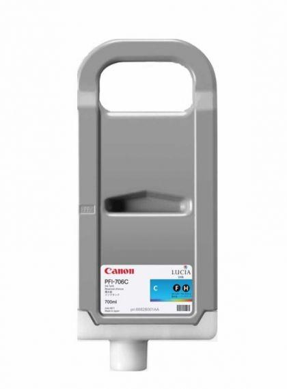 Cartus cerneala Canon PFI-706C, cyan, capacitate 700ml