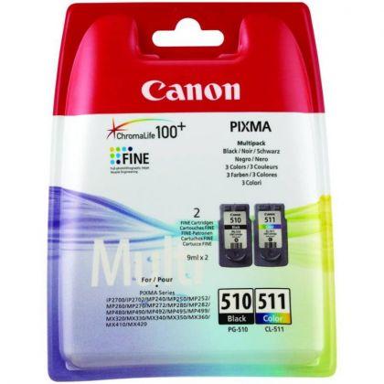 Cartus cerneala Canon PG-510 + Cl-511, multipack (black, color)