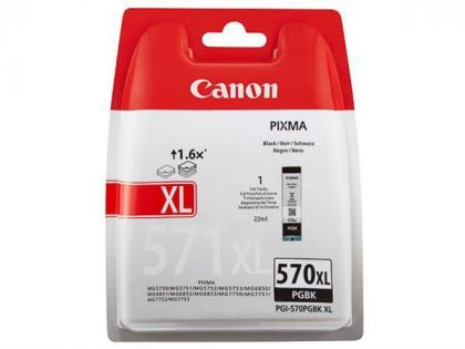 Cartus cerneala Canon PGI-570XL PGBK, pigment black, capacitate 22ml