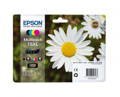 MULTIPACK CMYK NR.18XL C13T18164010 1X11,5ML, 3X6,6ML ORIGINAL EPSON XP-102