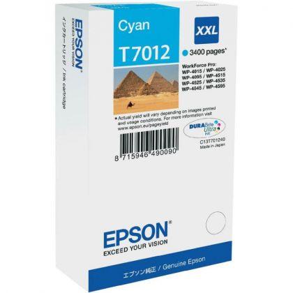CARTUS CYAN C13T70124010 3,4K 34ML ORIGINAL EPSON WORKFORCE PRO 4000