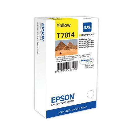 CARTUS YELLOW C13T70144010 3,4K 34ML ORIGINAL EPSON WORKFORCE PRO 4000