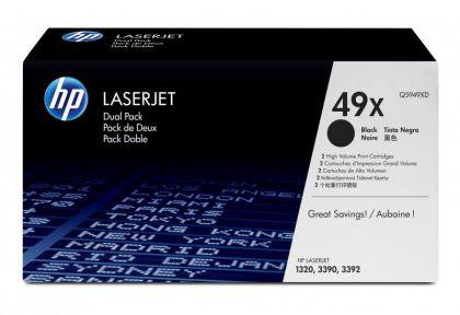 DUAL PACK CARTUS TONER NR.49X Q5949XD (2XQ5949X) 2X6K ORIGINAL HP LASERJET 1320