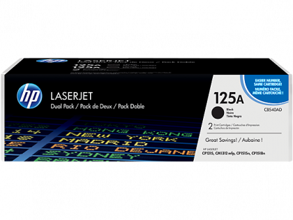 DUAL PACK CARTUS TONER NR.125A CB540AD 2X2,2K ORIGINAL HP LASERJET CP1215