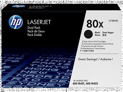 DUAL PACK CARTUS TONER NR.80X CF280XD 2X6,9K ORIGINAL HP LASERJET PRO 400 M401A