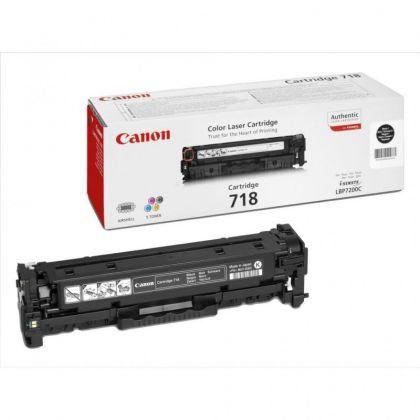 Toner Canon CRG718BK, black, capacitate 3400 pagini