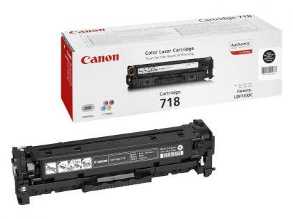 Toner Canon CRG718BK, black twin pack, capacitate 2x3400 pagini