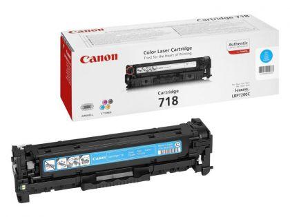 Toner Canon CRG718C, cyan, capacitate 2900 pagini