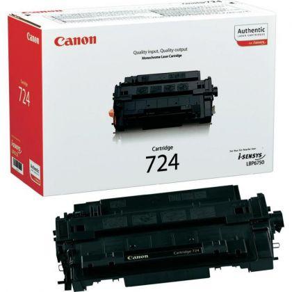 Toner Canon CRG724, black, capacitate 6000 pagini