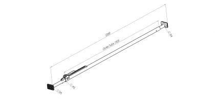 STENDER FIXARE MARFA SKO  CU TALPI CAUCIUC (2350-2720MM)