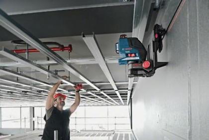 Nivela laser cu linii GLL 2-80 P + Receptor laser LR 2 Professional + Suport pentru LR 2 + Suport universal BM 1 Professional