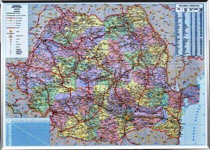 Harta Romaniei Rutiera Administrativa 100 X 140 Cm Profil