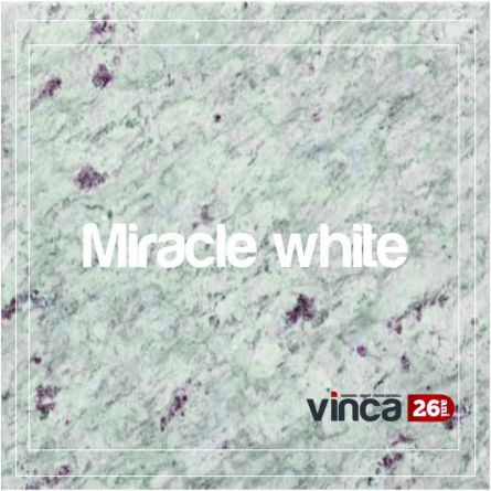 Blat Granit MIracle White decupaj rotund